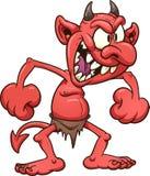 Diabo louco ilustração stock