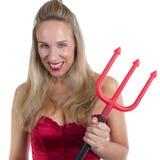Diabo louro 'sexy' imagens de stock royalty free