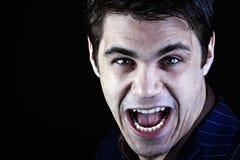 Diabo maníaco Imagem de Stock