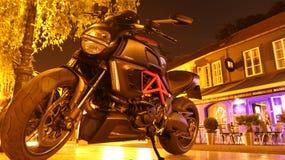 Diabo na noite Fotos de Stock Royalty Free