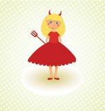 Diabo pequeno bonito Foto de Stock Royalty Free