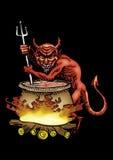 Diabo vermelho ilustração do vetor