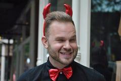 Diabo vermelho de Dia das Bruxas, New York City 2014 Imagens de Stock