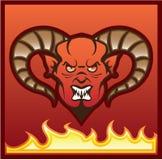 Diabo vermelho do vetor do demônio Fotografia de Stock