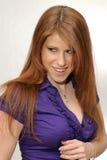 Diabolic woman Royalty Free Stock Image