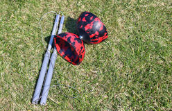 Diabolo. Toy on the grass with plenty of copy space Stock Image
