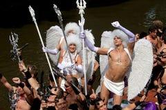 Diabos & anjos (parada Amsterdão do canal, 2008) imagens de stock