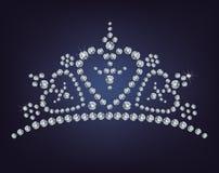 Diadème de diamant Images libres de droits