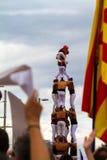 Diada de Catalunya, à Barcelone, l'Espagne le 11 septembre 2015 Photos libres de droits