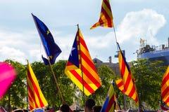 Diada de Catalunya, em Barcelona, Espanha o 11 de setembro de 2015 Foto de Stock