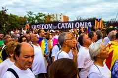 Diada de Catalunya, em Barcelona, Espanha o 11 de setembro de 2015 Fotografia de Stock Royalty Free