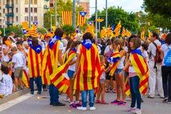 Diada de Catalunya, en Barcelona, España el 11 de septiembre de 2015 Foto de archivo