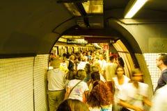 Diada di Catalunya, a Barcellona, la Spagna l'11 settembre 2015 Fotografia Stock