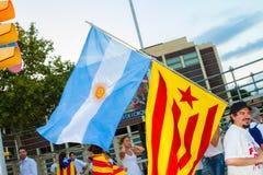 Diada di Catalunya, a Barcellona, la Spagna l'11 settembre 2015 Fotografie Stock Libere da Diritti