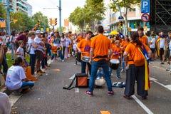 Diada di Catalunya, a Barcellona, la Spagna l'11 settembre 2015 Fotografia Stock Libera da Diritti