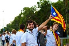Diada von Catalunya, in Barcelona, Spanien am 11. September 2015 Stockbilder