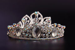 Diadem. Close up shot of diadem, isolated on black Stock Images