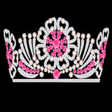 Diadem crown feminine wedding with rose stone. Illustration diadem crown feminine wedding with rose stone Royalty Free Stock Photos