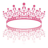 Diadem. elegance feminine tiara with reflection Royalty Free Stock Photography