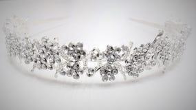 Diadem für Silber mit Bergkristallen Lizenzfreies Stockbild