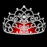 Diadem feminine  on black translucent Royalty Free Stock Photography