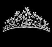 Diadem feminine wedding with rock crystals Royalty Free Stock Photos