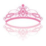 diadem Kvinnlig tiara för elegans med reflexion vektor illustrationer