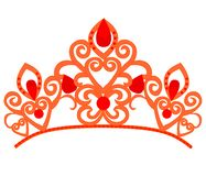 Αφηρημένη πολυτέλεια, βασιλικό χρυσό διανυσματικό σχέδιο εικονιδίων λογότυπων επιχείρησης Κομψή κορώνα, τιάρα, diadem σύμβολο ασφ διανυσματική απεικόνιση