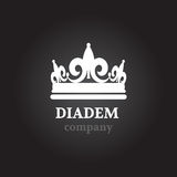 Diadem vector silhouette icon stock Royalty Free Stock Photo