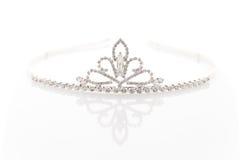 Diadema di nozze con i cristalli immagini stock libere da diritti