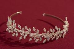 Diadema floreale della sposa Immagine Stock Libera da Diritti