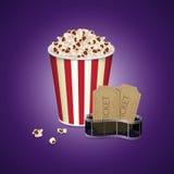 Diafilme com bilhete do vintage Imagem de Stock Royalty Free