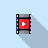 Diafilme video do filme do ícone ilustração stock