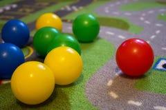 Diag coloré de boules Photographie stock