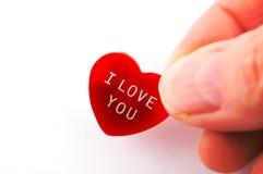 Diagli il mio cuore Fotografia Stock