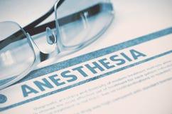 Diagnóstico - anestesia Conceito da medicina ilustração 3D Imagem de Stock Royalty Free
