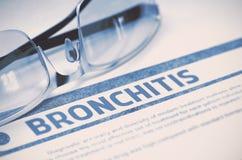 Diagnóstico - bronquite Conceito da medicina ilustração 3D Imagens de Stock