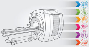 Diagnóstico de MRI Imagens de Stock
