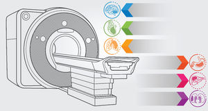 Diagnóstico de MRI Imagem de Stock
