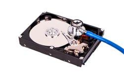 Diagnóstico del disco duro foto de archivo