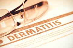 Diagnóstico - dermatite Conceito da medicina ilustração 3D Foto de Stock