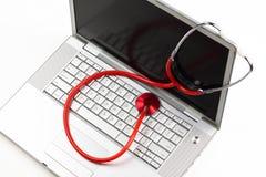 Diagnóstico do portátil Imagens de Stock
