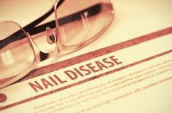 Diagnóstico - doença do prego Conceito da medicina ilustração 3D Foto de Stock Royalty Free
