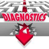 Diagnóstico dos dados de Maze Arrow Break Through Power da palavra dos diagnósticos ilustração royalty free