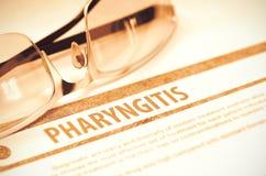 Diagnóstico - faringite Conceito da medicina ilustração 3D Foto de Stock Royalty Free