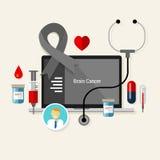 Diagnóstico médico da medicina da quimioterapia do tratamento de câncer cerebral ilustração royalty free