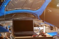 Diagnóstico moderno del coche imagen de archivo libre de regalías