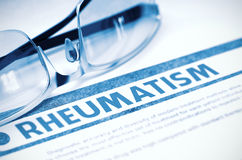 Diagnóstico - reumatismo Conceito da medicina ilustração 3D Foto de Stock Royalty Free