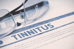 Diagnóstico - Tinnitus Conceito MÉDICO ilustração 3D Imagem de Stock