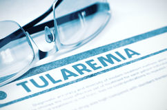 Diagnóstico - Tularemia Conceito MÉDICO ilustração 3D Imagem de Stock Royalty Free
